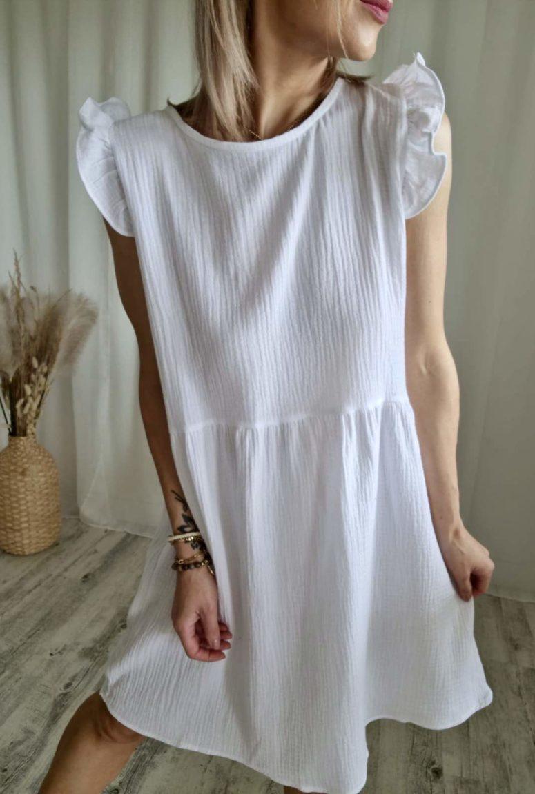 Robe d'été blanche en coton