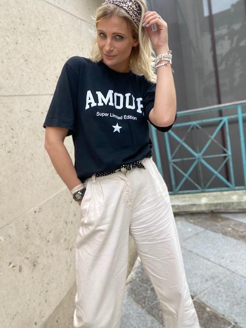 T-Shirt noir Amour - Super Limited Edition